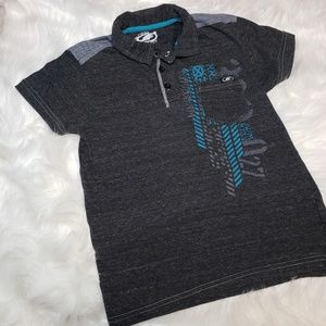 Boys First Wave Gray Polo
